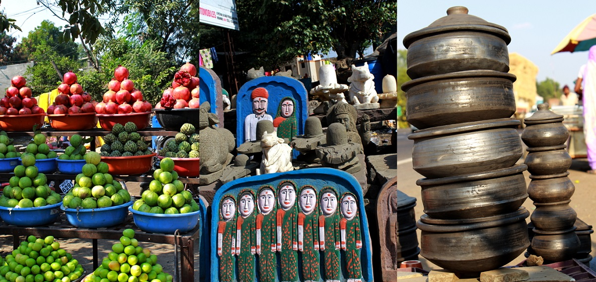 Juicy Fruits and Earthen kitchenware in Shirdi