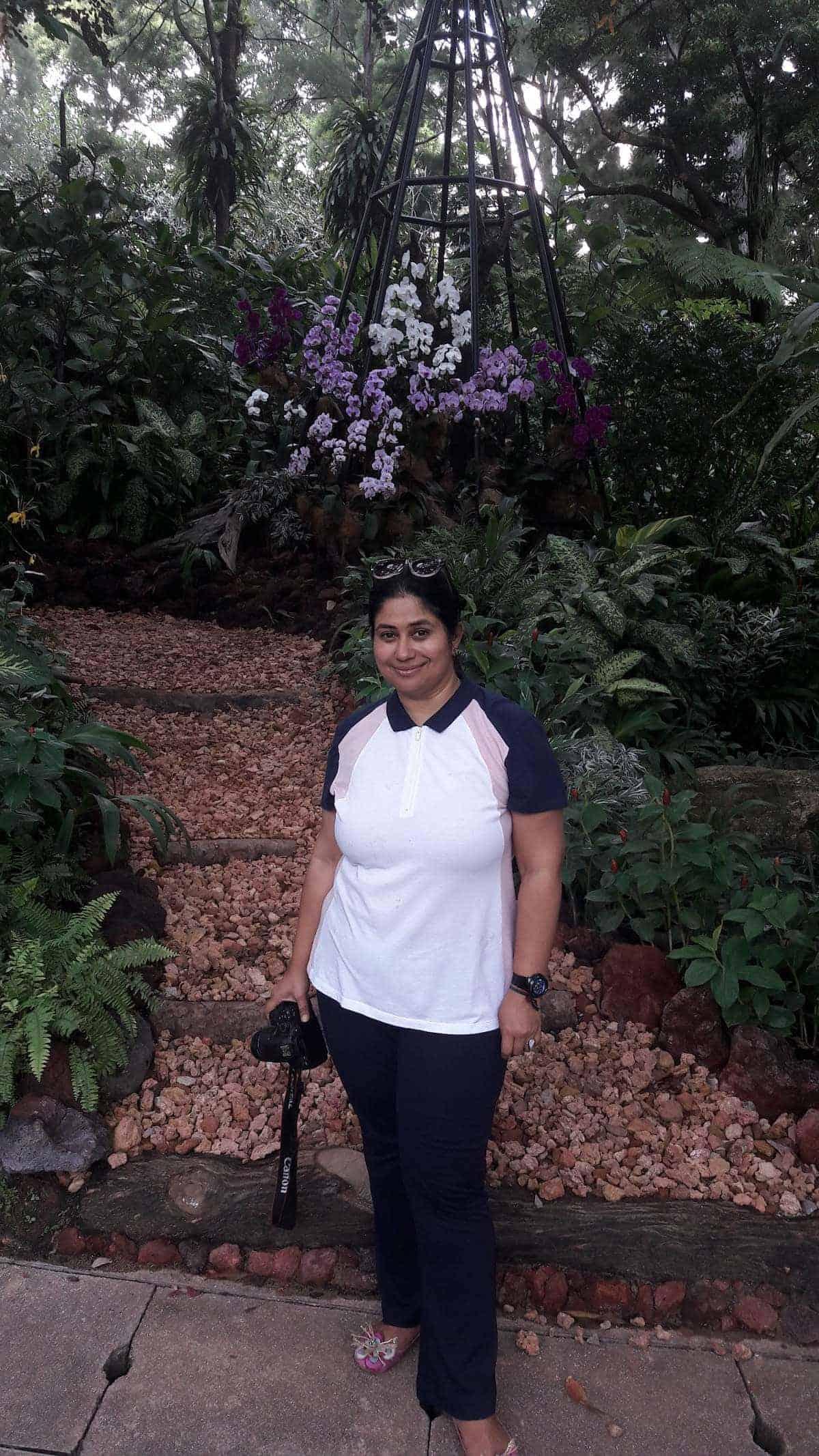 Saloni Kilam Rampal at Singapore Botanic Gardens
