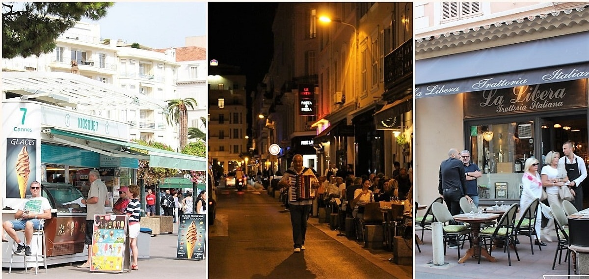 Road side Cafes & Restaurants in Cannes