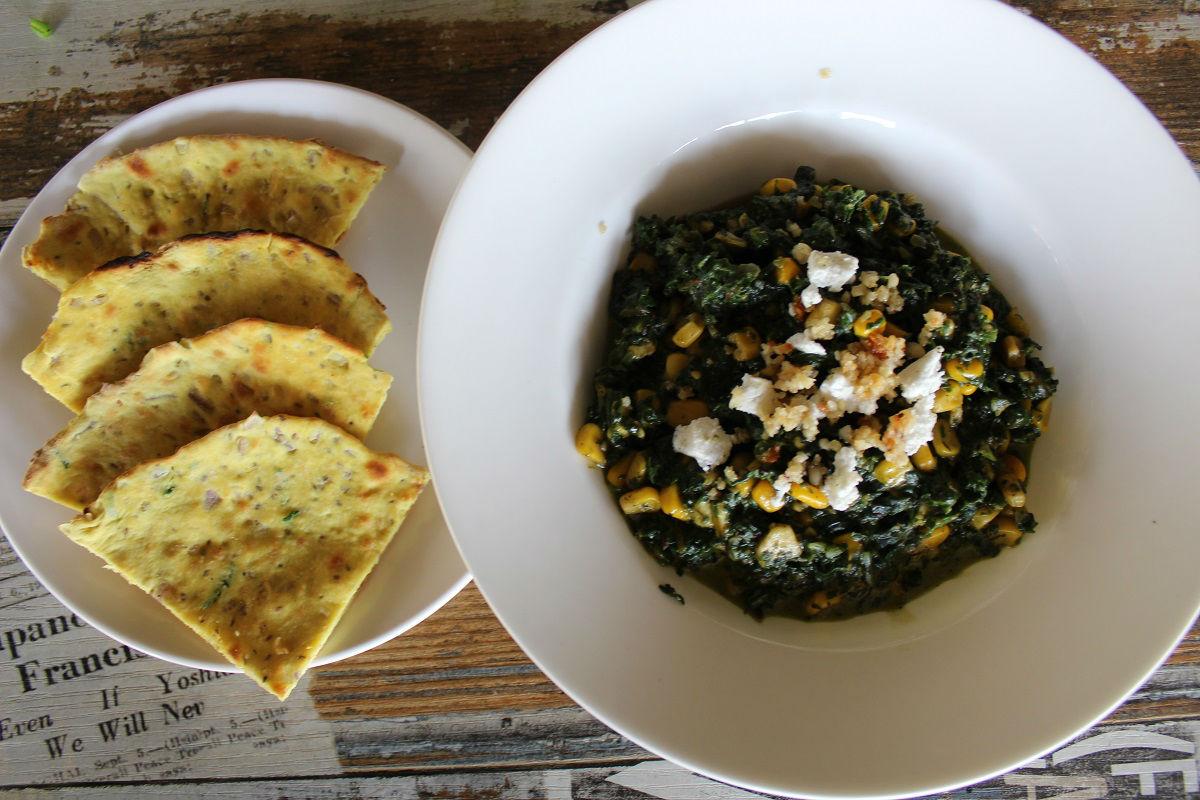 Spinach, Paneer & Corn Bhujia