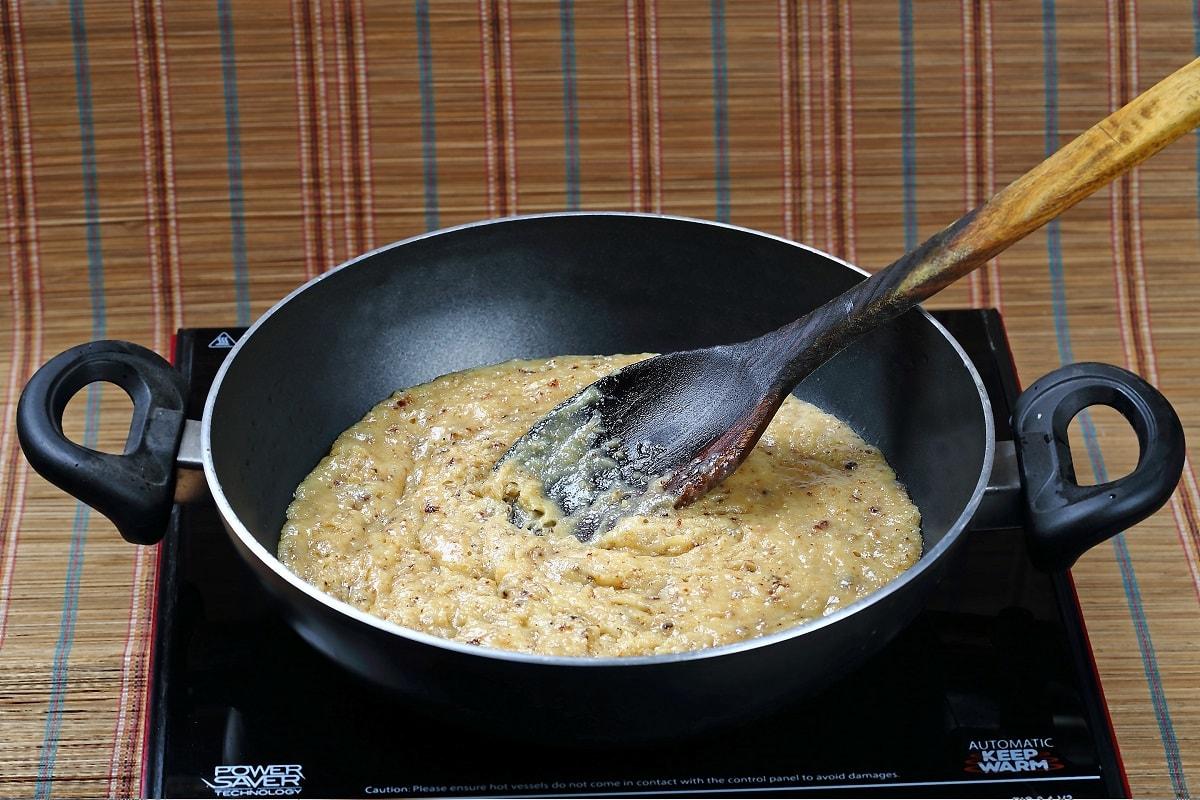 Caramelizing Process of Chocolate Barfi
