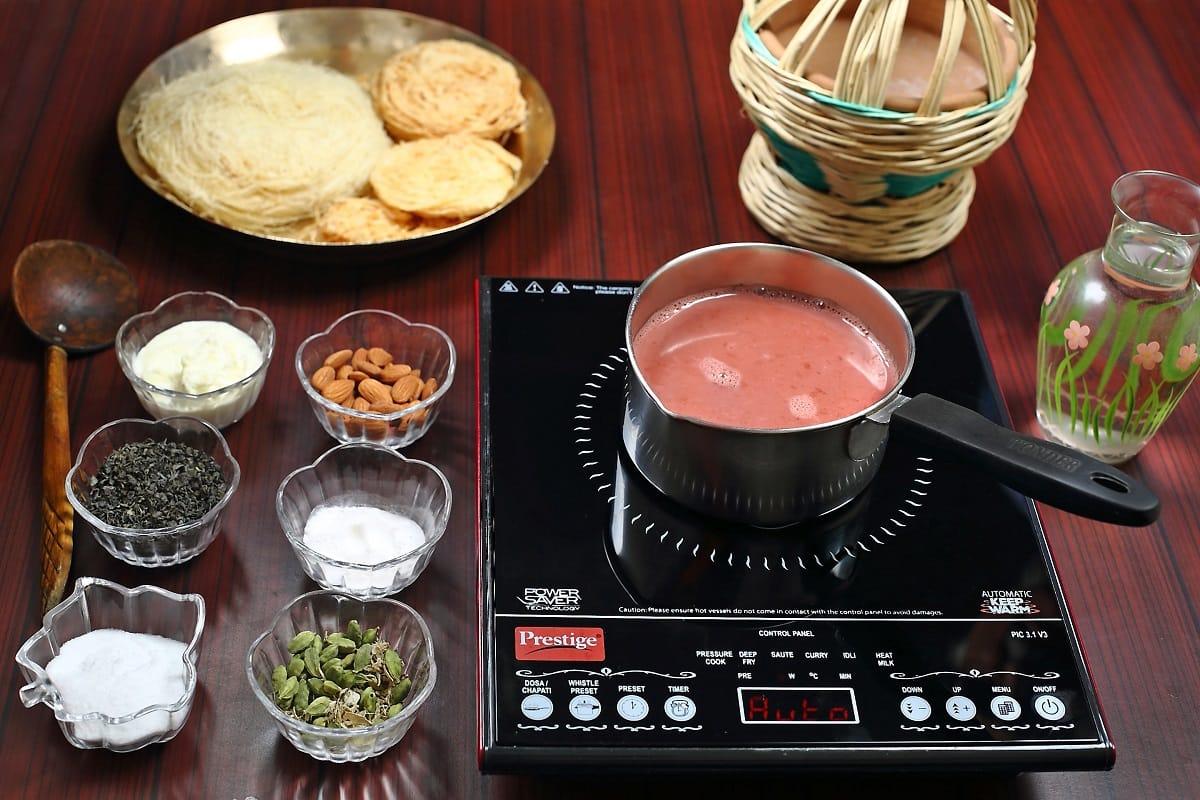 Simmering Process of Kashmir Pink Tea