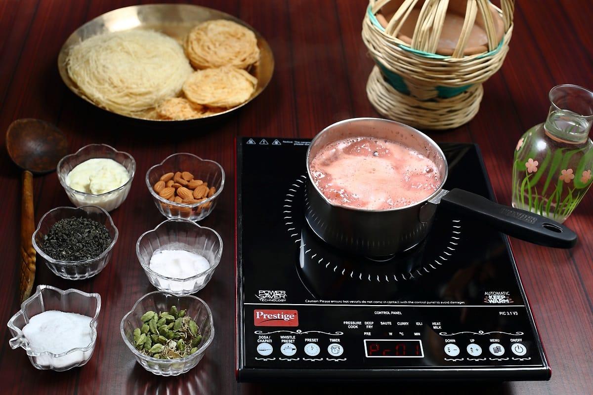 Process of Boiling - Kashmiri Pink Tea