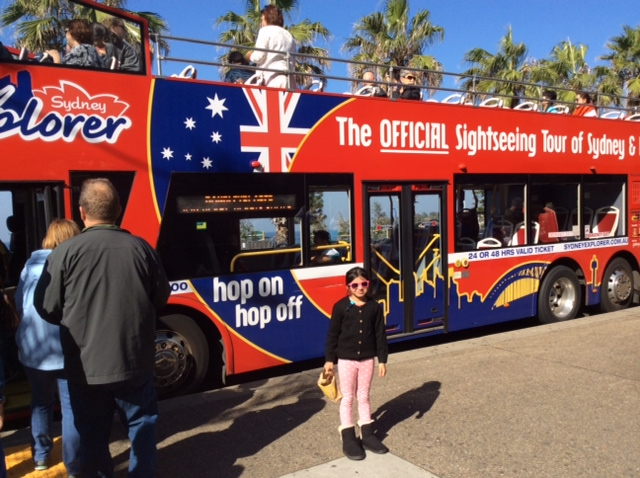 Hop On Hop Off sightseeing bus- The Sydney Explorer